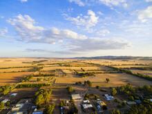 Aerial Shot Of Farmland At The...