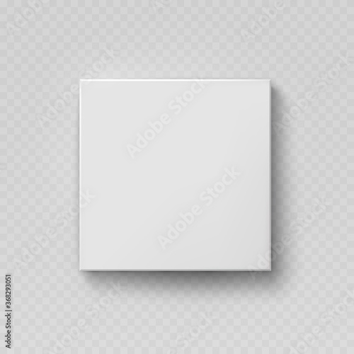 Fotografia, Obraz Box mock up top view with shadow isolated on transparent background