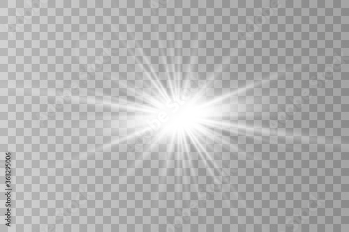 Valokuva Sparks sparkle with a special light effect
