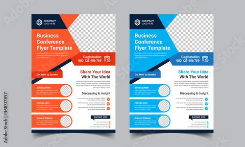 Fototapeta Business Conference Flyer Template obraz