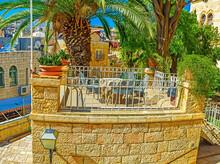 The Stone Terrace Of Austrian Hospice, Jerusalem, Israel