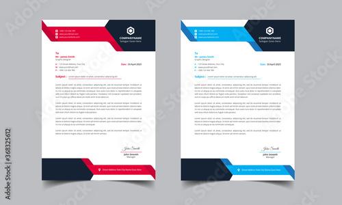 Fototapeta Modern company letterhead Template obraz