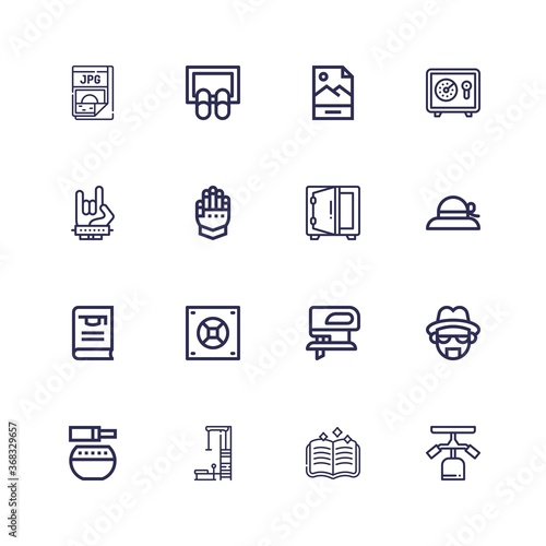 Editable 16 png icons for web and mobile Canvas Print