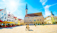 Tallinn Town Hall Square And Old City View, Estonia
