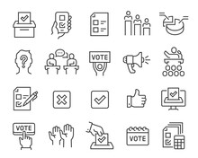 Voting And Election Icons Set....