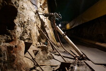 Deep Inside Of A Working Mine