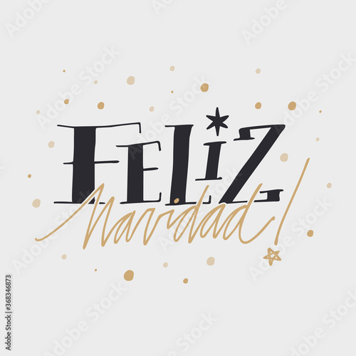 Black and golden feliz navidad lettering background