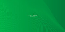 Green Abstract Background With Curve Lines