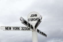 Sign Post For John O Groats In...