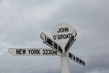 Sign Post For John O Groats In...