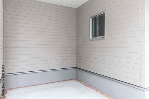 Fototapeta Perspective of Empty white basement concrete room. obraz