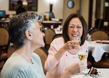 Senior Citizens Drinking Wine ...