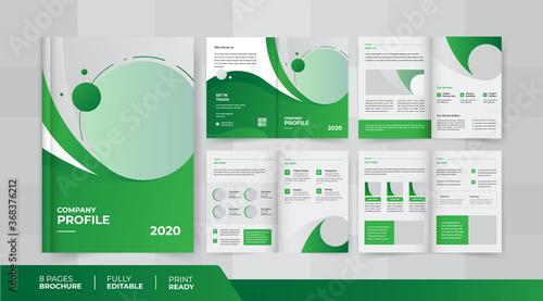 Fotografia, Obraz 8 pages corporate company profile brochure design use it is for multipurpose
