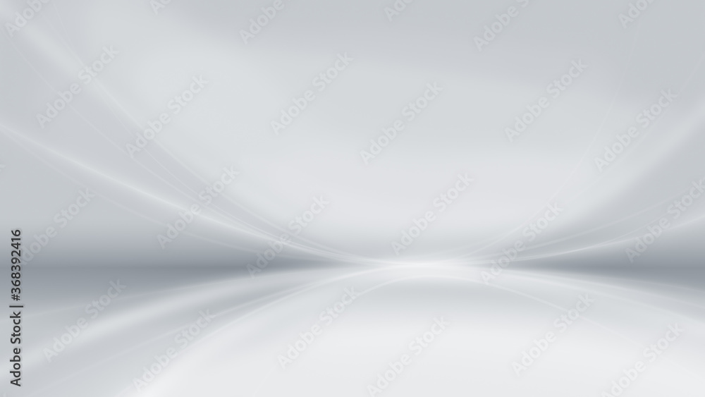 Fototapeta Abstract and modern gray background with brighter bent lines. Copy space. 4k resolution.