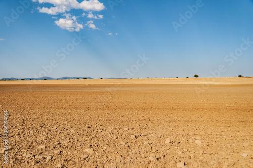 Campo seco de Aragón, cercano a la provincia de Soria Canvas-taulu