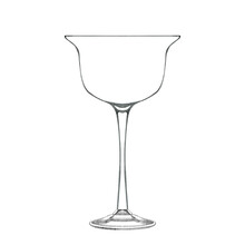 Cocktail Coupe Glass Isolated On White. Hand Drawn Illustration. Pencil Sketch Of Empty Glassware For Alcohol Drink. Design Element For Bar And Restaurant Menu, Recipes, Flyers.