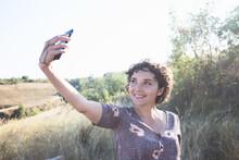 Girl Takes A Selfie