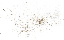 Soil Dust Pile Isolated On White Background, Top View