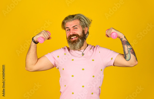 Obraz na plátně workout with barbell