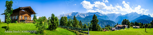 landscape at the wetterstein mountains - bavaria