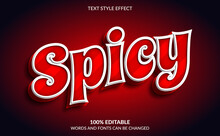 Editable Text Effect, Red Spic...