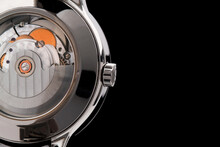 Close View Of Watch Mechanism ...