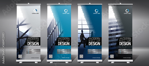 Roll-up templates (85x200 cm) - modern office buildings Canvas-taulu