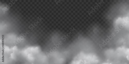 Fototapeta Vector Realistic Smoke Clouds with Transparency obraz