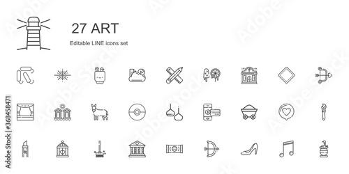 Платно art icons set