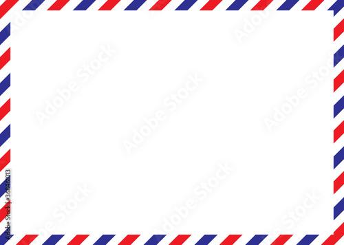 Airmail envelope frame Fototapete