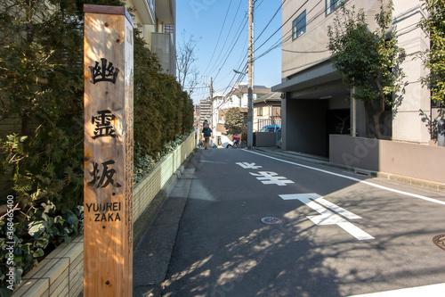 東京、三田の幽霊坂 Canvas Print