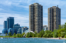 Ontario Lake Shore In Toronto,...