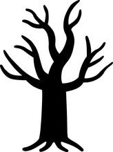 怪しい木のシルエット