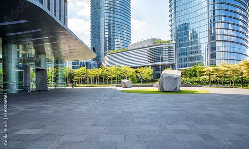 Fototapety, obrazy: CBD building and empty ground in Pazhou, Guangzhou, China