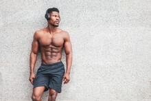 African American Athletic Man ...