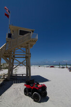 Lifeguard Tower At Ponce Inlet Beach