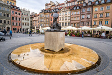 The Central Square In Old Town Warsaw, Reconstructed After It Was Destroyed In WWII