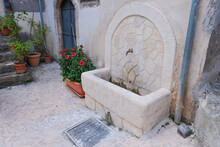 Fountain In The Medieval Town ...