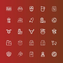 Editable 25 Cow Icons For Web And Mobile
