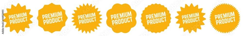Fototapeta Premium Product Tag Orange | Icon | Sticker | Deal Label | Variations