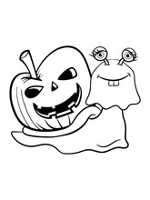 Schnecke Lustig Halloween Geist
