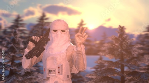 Star Wars - Snowtrooper 7680x4320 HD