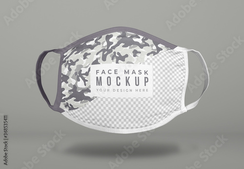 Fototapeta Floating Covid Face Mask Mockup obraz