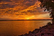 Warm And Dramatic Background Of Oklahoma Sunrise