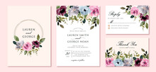 Wedding Invitation Set With Be...