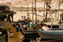 Fishing Boats Docked At Morro ...