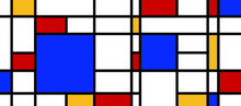 Mondrian Painted Figures