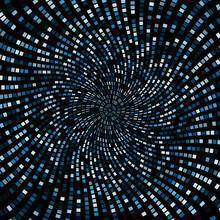 Abstract Blue Vortex Art Design Background