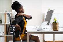 Back Pain Bad Posture Woman Sitting