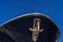 Yacht Anchor On Blue Sky Backg...